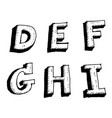 hand drawn sketch letter defghi vector image vector image