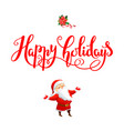 handwritten christmas inscription vector image vector image
