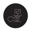 heart surgery black concept icon heart vector image vector image