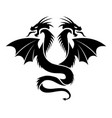 icon flying two headed dragon vector image
