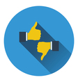 Icon of Like and dislike vector image vector image