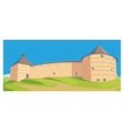 illutration fortness castle vector image