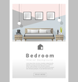 Interior design Modern bedroom banner 2 vector image