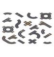 isometric design roadway parts vector image vector image