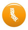lost sock icon orange vector image vector image