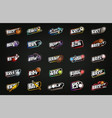 mega sport logotype set modern professional sport vector image vector image