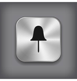 Paper push pin icon - metal app button vector image