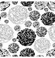 peony garden-flowers in bloom seamless repeat vector image vector image