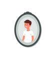 photography or snapshot cute little boy flat vector image vector image
