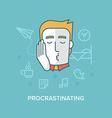 Procrastinating vector image vector image