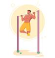 pull-ups calisthenics bodyweight exercise vector image