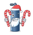 santa with candy toy air tank diving cartoon shape vector image vector image
