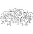 school kids coloring page vector image