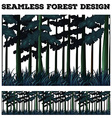 Seamless green forest design vector image