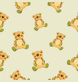 seamless pattern with teddy vector image vector image