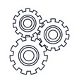 set gears mechanical team work cooperation vector image vector image