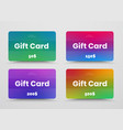 set gift or discount cards with color soft vector image vector image