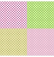 Set of pastel seamless patterns with dots vector image vector image
