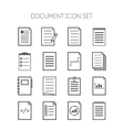Set of simple document icons for web design sites vector image