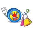 shopping yoyo character cartoon style vector image