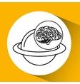 solar system brain school knowledge vector image