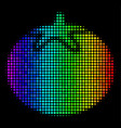 spectrum pixel tomato vegetable icon vector image