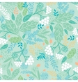 Spring berries seamless pattern background vector image vector image