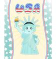statue liberty vector image