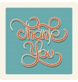 Thank You Handmade Lettering vector image vector image