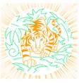 tiger icon in nature vector image vector image