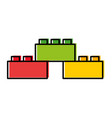 toy blocks structure icon vector image vector image