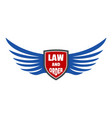 usa law and order logo icon flat style vector image vector image