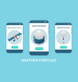 weather forecast set vector image vector image