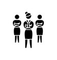 women in business black icon sign on vector image vector image