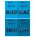 Mechanical timetable vector image