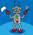 Peaceful robot vector image
