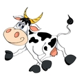 white cow vector image