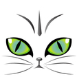 Cat eyes logo vector image