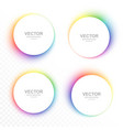 set of colorful blurry circle banners vector image