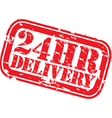 24hr delivery grunge stamp vector image