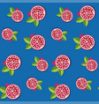 seamless pomegranate pattern vector image