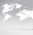3D World map 02 vector image vector image