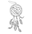 a dream catcher vector image