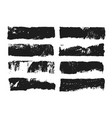 abstract black smears of paint isolated on white vector image