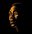 african man portrait silhouette