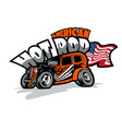 american hot rod custom made cars t-shirt print vector image vector image