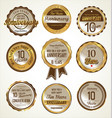 anniversary golden labels 10 years