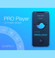 audio player user interface concept vector image vector image