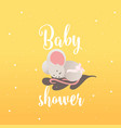 bashower invitation card with little sleeping vector image vector image