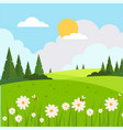 beautiful spring landscape background vector image vector image